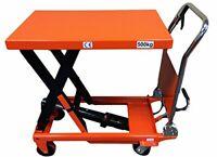 CasterHQ - Mighty Lift LT1100 Hydraulic Scissor Lift Table - Heavy Duty Folding