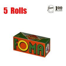 5 Rolls Foma Fomapan ISO200 100 Years Anniversary 120 format  B&W  Fresh 08/2022