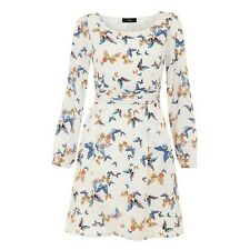 Butterfly printed long sleeved dress Ladies UK Size 10 Box1223 M