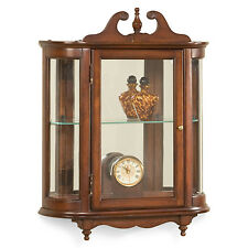 WESTBROOK WALL MOUNTED CURIO CABINET   PLANTATION CHERRY FINISH   FREE  SHIPPING*