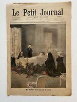 Supplément Illustré Le Petit Journal 16/10/1898, N°413, MME CARNOT LIT DE MORT