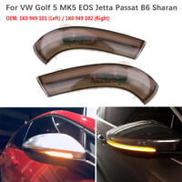 Flowing LED Turn Signal Side Wing Rear View Mirror Light for VW Golf MK5 Jetta