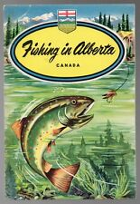 FISHING IN ALBERTA W. H. MacDonald TOURIST BROCHURE 1951 Colour Cover Canada