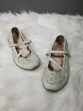 Skecher's Girl's shoes flats size 6 floral color white