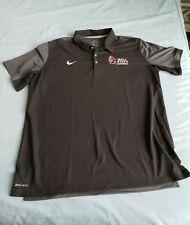 Men's Nike Dri-Fit XL Ball State Cardinals Black Short-Sleeve Sideline Polo Logo
