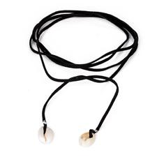 Sea Shell Tie-Up Choker, Rope Necklace Boho Bohemian Beach Summer Jewelry