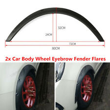 2Pcs Black Fender Flares Flexible Fender Durable Polyurethane For Car Small SUV