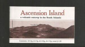 Ascension 1981 Flowers Booklets UMM SG 283B/4B/8B/90B (Brown Cover)