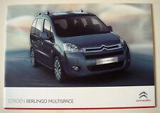 Citroen . Berlingo . Citroen Berlingo Multispace . July 2011 Sales Brochure