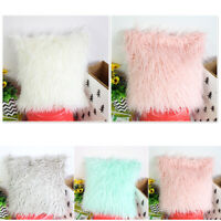 Fluffy Fur Comfy Pillowcase Cushion Cover Sofa Bed Home Car Office Decoration