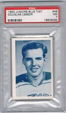 1952 Juniors Blue Tint  Hockey Card Guelph Biltmores Douglas Lessor Graded PSA 7