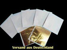 Blattgold,Schlagmetall,10 Blatt im Set,jedes einzel durch ein Blatt getrennt