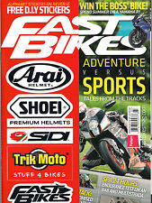 NEW! FAST BIKES UK Issue 277 Summer 2013 Free DIY STICKERS Motorcycle Cycle