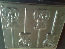4 CAVITY WEDDING COUPLE CHOCOLATE, LOLLIPOP MOULD, SOAP, CLAY, MOULD / MOULDS