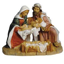 Trittico natività FONTANINI cm 40 sacra famiglia pastori presepe arte religiosa