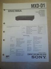 Sony Service Manual~MXD-D1 CD Mini Disc Deck/Player~Original~Repair