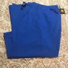 Carhartt Womens Size 5XL Scrub Pants Drawstring Flare Leg Pockets Dark Blue