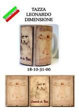 MUG tazza - Leonardo da Vinci - Uomo Vitruviano, Ala e Bicicletta