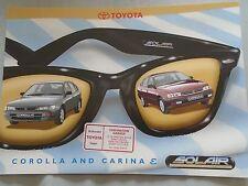 Toyota Carina E & Corolla Solair brochure c1990's