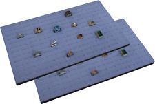 """2 Piece 144 Jewelry Grey  Insert Display Pads  14 3/4"""" x 7 3/4"""" x 1/2"""""""