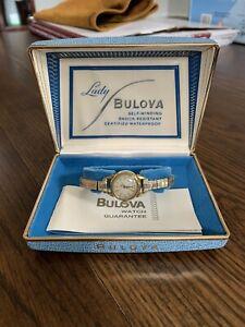 Vintage Lady Bulova Self Winding Shock Resistant Waterproof M4 In The Box