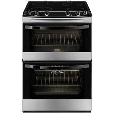 Zanussi Zcv680tcxa Standing 60cm Double Cavity Electric Cooker Stainless