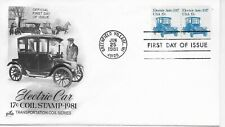 US Scott #1906, First Day Cover 6/25/81 Greenfield Village Plate #1 Pair Auto
