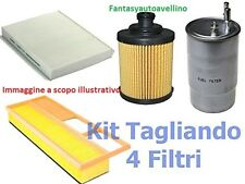 KIT 4 FILTRI TAGLIANDO  FIAT BRAVO II 1.6 MJET 88KW 120CV  MOT. 198A2000