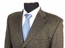 HUGO BOSS Einstein Mens 40R Brown Herringbone 3-Button Wool/Cashmere Sport Coat