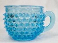 Dew Drop Cup Hobanil Double Eye Blue Columbia Glass EAPG 1888 Antique