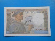 10 francs mineur 19-12-1946 F8/16 SUP à SPL