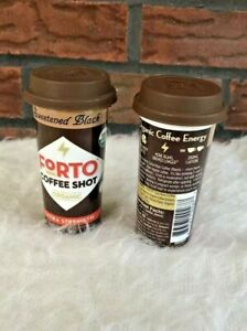 Two Forto Coffee Shot Organic Extra Strength Sweetened Black 2 Oz 200 Mg Caffein