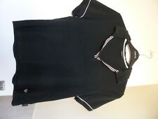 EVANS Active VIII Black Short Sleeved Cotton Top Size 16