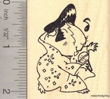 Guinea Pig Elvis Tribute Halloween Rubber Stamp H14114