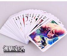 Attack on Titan AOT Shingeki no Kyojin Cosplay Playing Cards GIFT Poker Game Toy
