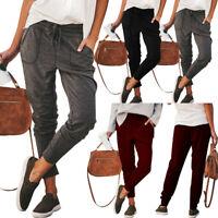 Women Comfort Solid Jogger Pant Joggers Elastic Waist Casual Sweatpants Trousers