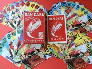 """DAN DARE EAGLE COMIC PEPYS VINTAGE 1953 """"GAME OF THE FUTURE"""" BOXED CARD GAME"""
