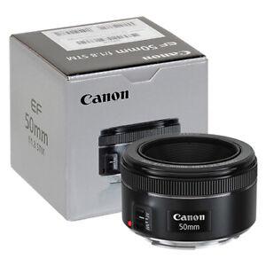 Canon EF 50mm f/1.8 STM Lens in ORIGINAL RETAIL BOX