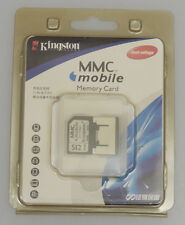 PRL) MEMORY CARD MMC MOBILE KINGSTON 512 MB CELLULARE MOBILE PHONE CAMERAS PDAS