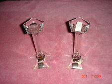Riedel Lead Crystal Pair Candle Holders over 24% PBO BRAND NEW Made in Austria