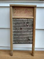 Antique Washboard TWO-in-ONE JR Carolina Washboard Co. Raleigh NC
