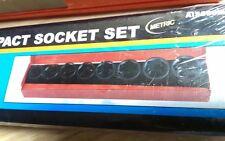 "Cal-Hawk 9pc 3/4"" Dr Metric Air Impact Socket Set in Metal Case sockets CR-V NIP"