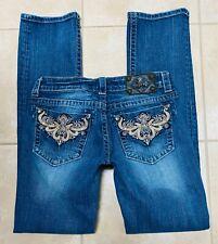 Miss Me JW5376T3 Straight Stretch Blue Jeans size 29 x 33 1/2