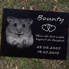 Hamster Gedenkstein GRABSTEIN Tiergrabstein Hamster-002 ►Textgravur◄ 30 x 20 cm