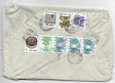 China cloth cover parcel 1990.2.17 Anqing w both China & US Custom form/chop