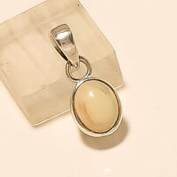 Natural Ethiopian Fire Welo Opal Charm Pendant 925 Sterling Silver Fine Jewelry
