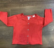 Zara Baby Girl 9-12 Months Red Sweater Cardigan