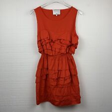 Phillip Lim 3.1 Dress 6 Womens Red Ruffle Sleeveless Mini