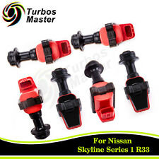 6PCS Ignition Coil Pack fit Skyline R32 RB20DET Series 1 S1 R33 RB25DET RB26DETT