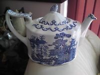 Ringtons 75th Anniversary Teapot In Masons 'Willow' Pattern , VGC, FREE-MAILING.